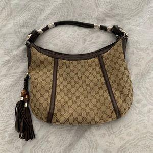Gucci Techno Horsebit Hobo Bag Medium